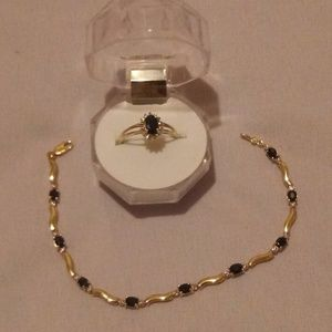14k Gold Bracelet & 10k Ring